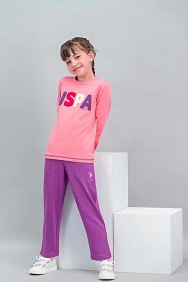 U.S. Polo Assn. U.S. Polo Assn Lisanslı Şeker Pembe Kız Çocuk Eşofman Takımı Pembe